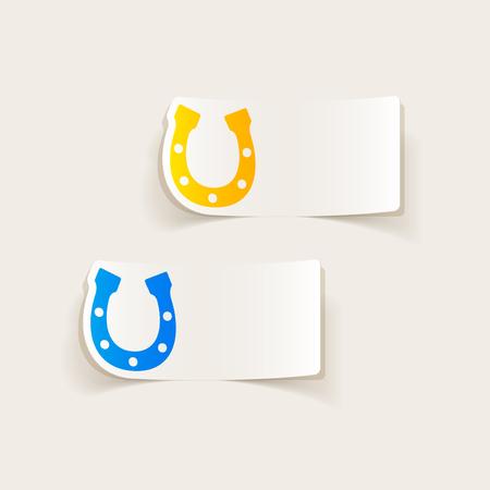 Realistisches Design-Element: Hufeisen Standard-Bild - 77660336