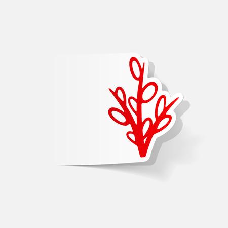 現実的なデザイン要素: 柳  イラスト・ベクター素材