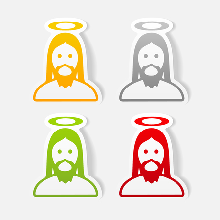 realistic design element: jesus Reklamní fotografie - 77660439