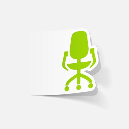 Realistisch ontwerpelement: kantoorstoel
