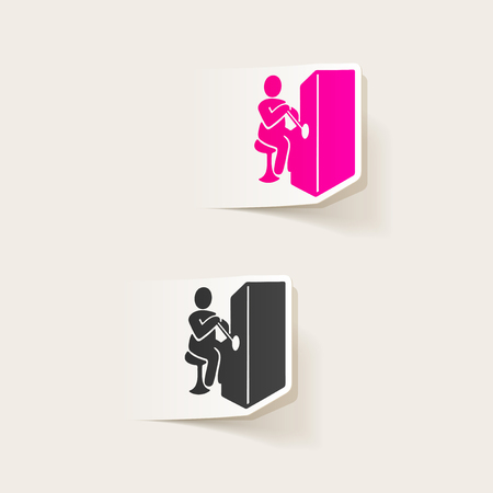 realistic design element. slot machine Ilustração