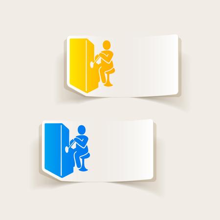 realistic design element. slot machine Illustration
