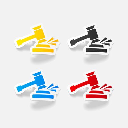 realistic design element. gavel Ilustração