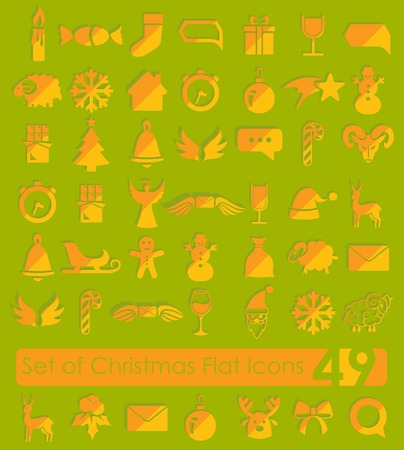 Set of Christmas icons Illustration