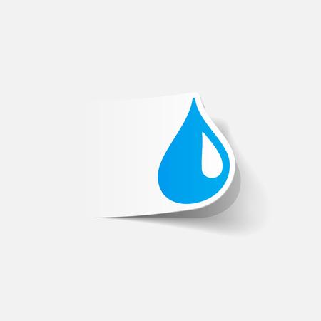Realistic drop design element. Illustration