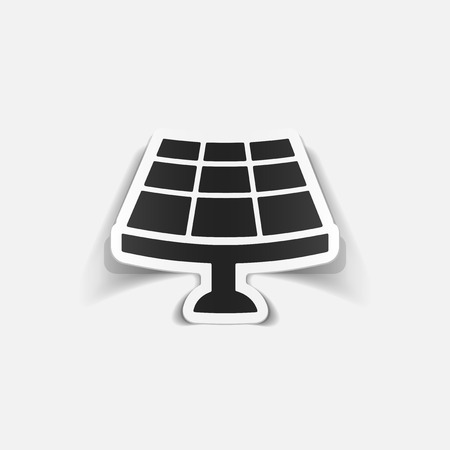 Realistic solar battery design element.