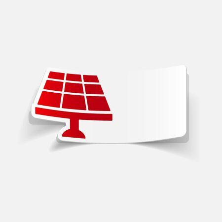 realistic design element: solar battery