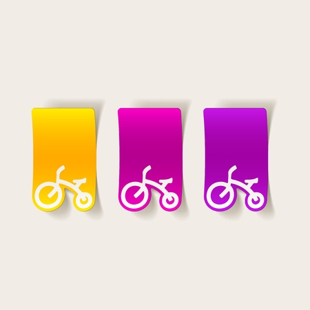 Realistic childrens bike design element. Ilustracja