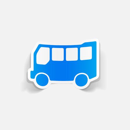 Realistic design element: bus