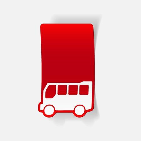Realistisches gestaltungselement: bus Standard-Bild - 78507476