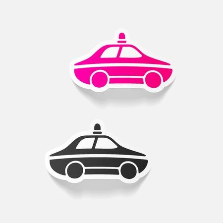 realistic design element. police car Illustration