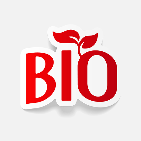realistic design element: bio sign