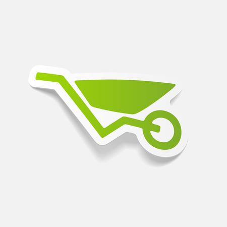 realistic design element: wheelbarrow Illustration