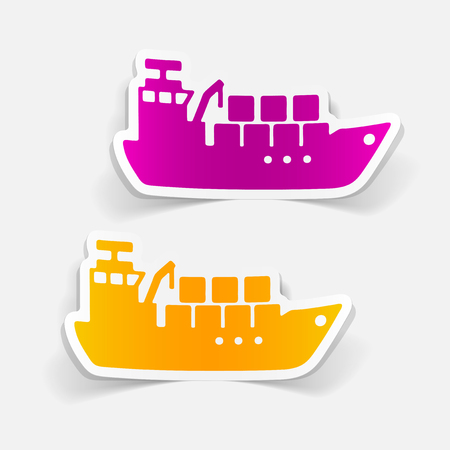 realistic design element: cargo ship