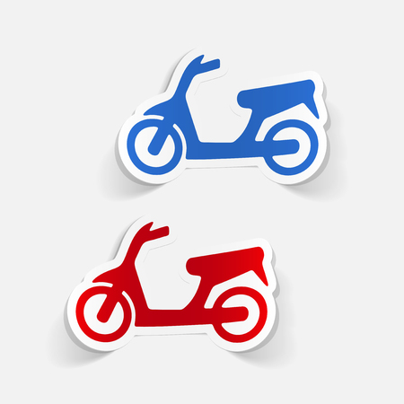 A realistic design element: scooter.