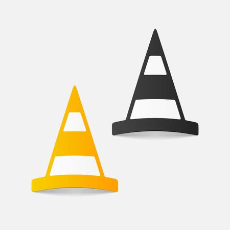 A realistic design element: road cones.