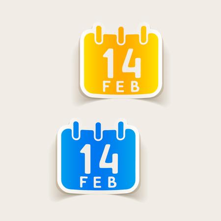 A realistic design element: Valentine,