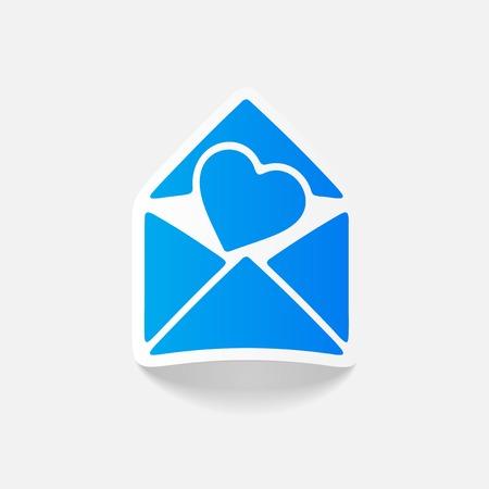 A realistic design element: heart.