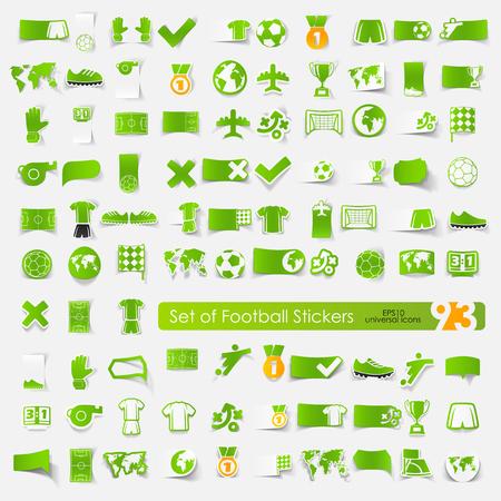 Set of football stickers