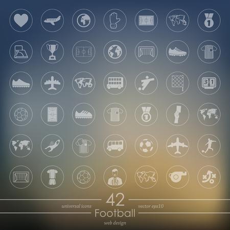 Set of football icons