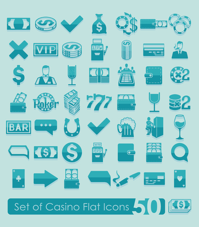 Set of casino icons Illustration