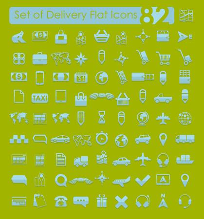 Set van levering iconen