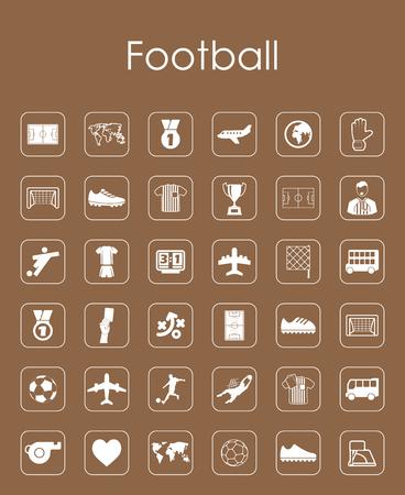 サッカー簡単なアイコンのセット
