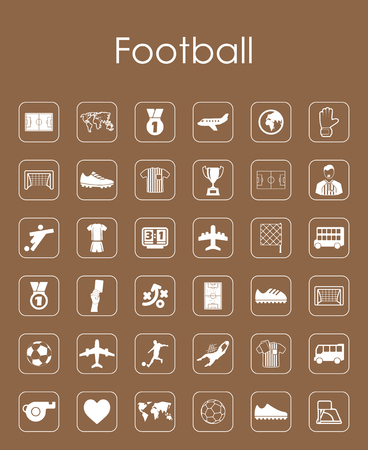 Set of football simple icons