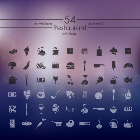 Conjunto de iconos de restaurante Foto de archivo - 79507252
