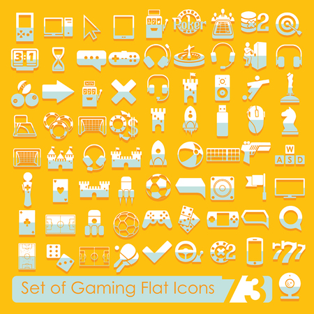 Set of game icons Illustration