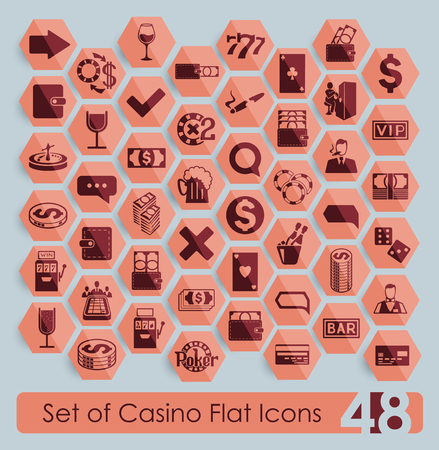 Set of casino icons Illustration