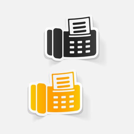 realistic design element: fax