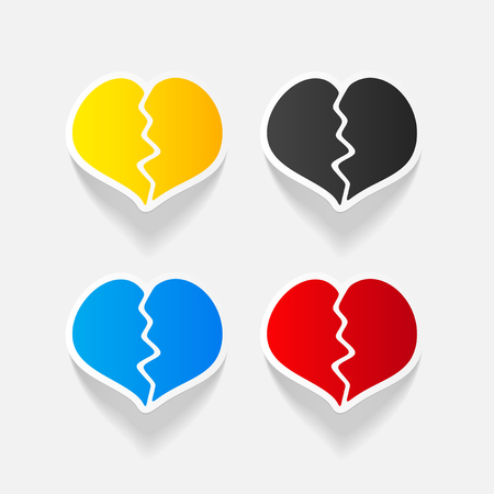 Realistic design element: broken heart Stok Fotoğraf - 79509207