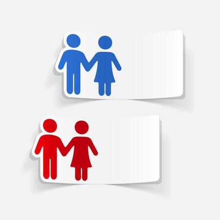 realistic design element: couple in love