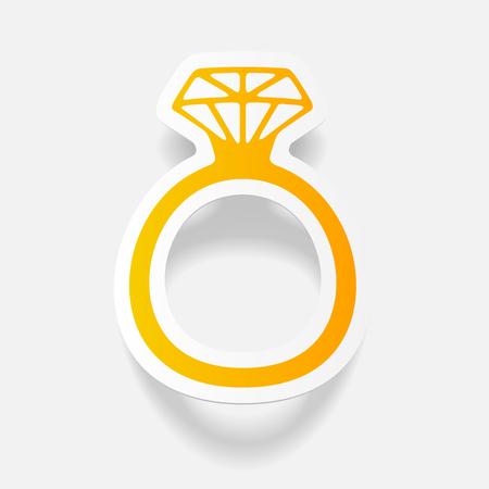 realistic design element: ring Ilustrace