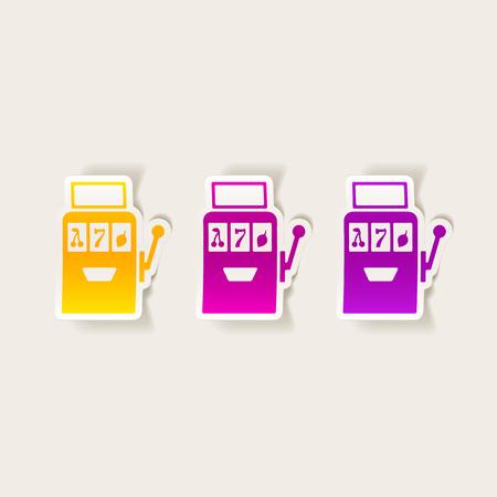 Realistic design element: slot machine 向量圖像