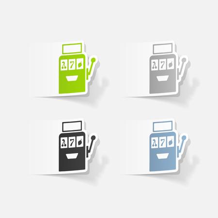 Realistic design element: slot machine Ilustração