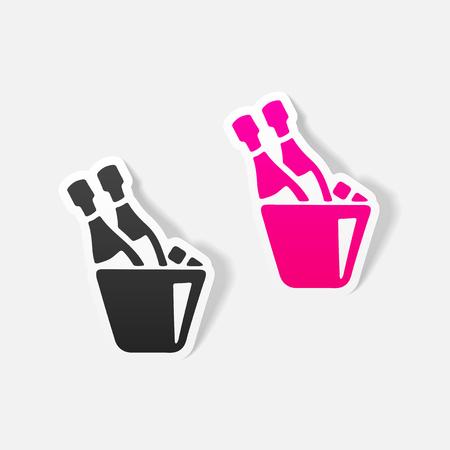 Realistic design element: champagne