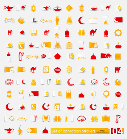 Set of ramadan stickers