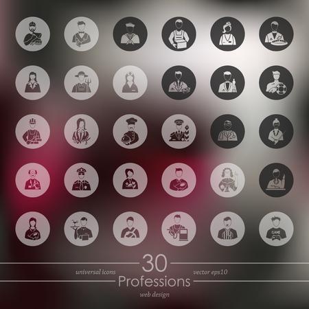Set di professioni icone Archivio Fotografico - 80115615