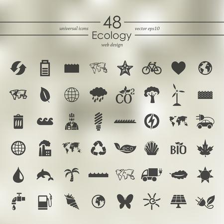 Set of ecology icons Illustration