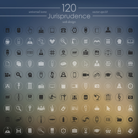 Set of jurisprudence icons. Иллюстрация