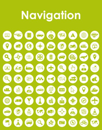 Set of navigation simple icons.
