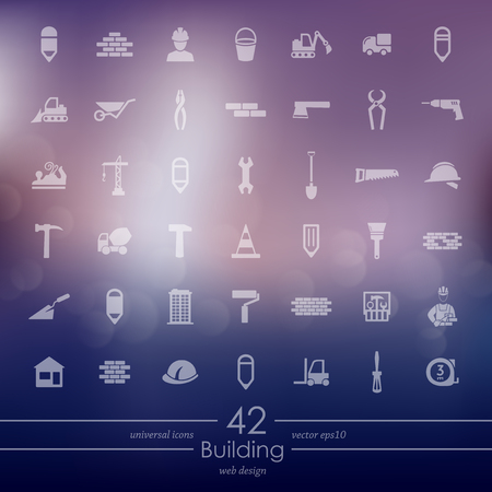 Set of building icons.