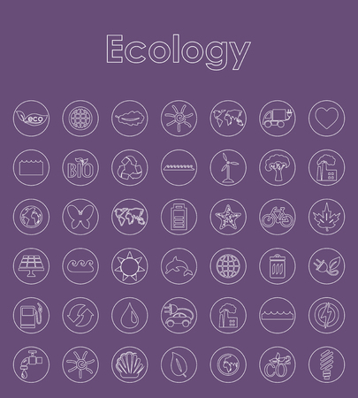 Set of ecology simple icons. Иллюстрация