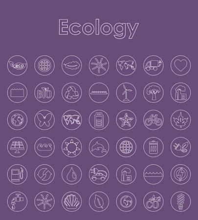 Set of ecology simple icons. Illustration