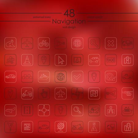 Set of navigation icons.