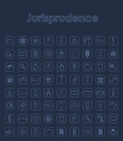 Set of jurisprudence simple icons. Иллюстрация