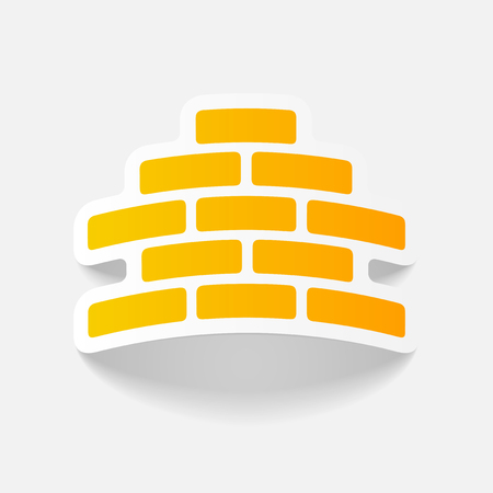 realistic design element: brickwork Illustration