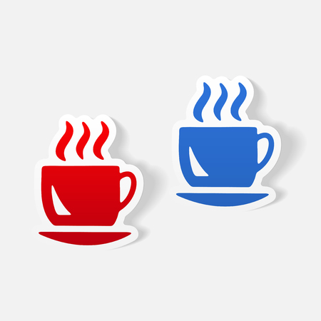 Realistic design element: coffee Иллюстрация